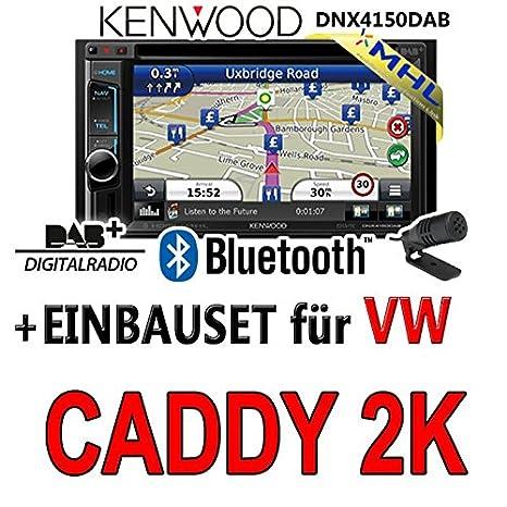 Volkswagen caddy 2-k kenwood dNX4150DAB 2-dIN navigationsradio mHL autoradio dAB uSB avec kit de montage