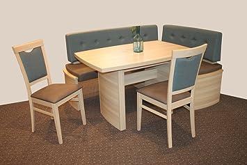 4 tlg essgruppe nora mit eckbank dc20. Black Bedroom Furniture Sets. Home Design Ideas