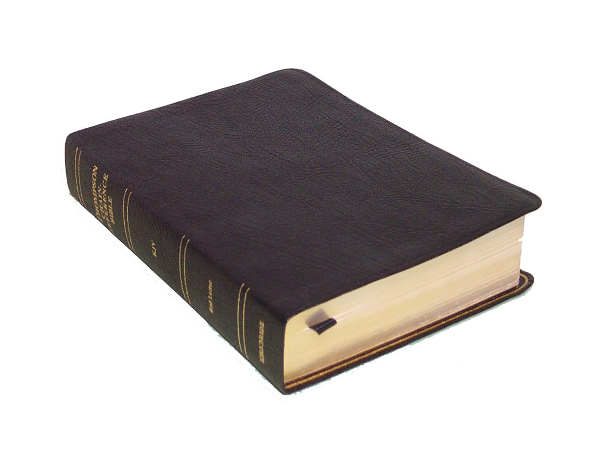 Thompson Chain Reference Bible (Style 536black index) - Handy Size KJV - Genuine Leather Frank Charles Thompson
