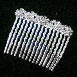 Crystal flower Hair Comb