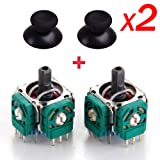 2x Replacement 3D Sensor 3D Joystick and Thumb stick for Playstation4 PS4 Controller With 2x Thumb Stick