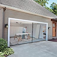 2-Car-Garage Screen Kit (16′ W x 7′ t…