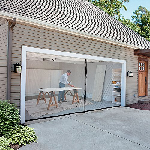 2-Car-Garage Screen Kit (16' W x 7' tall) (Double Garage Door Screen compare prices)