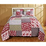 Be-you-tiful Home CC733T Laila Jaipuri Printed Quilt Set Twin
