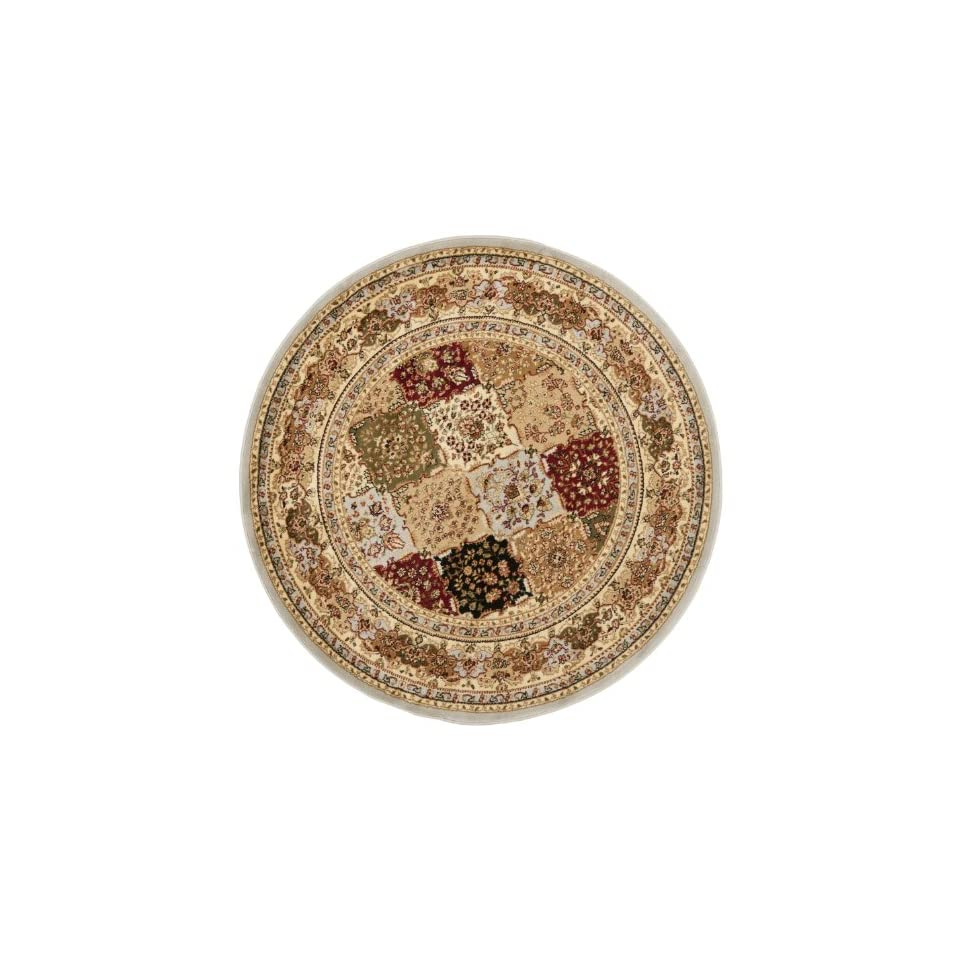 Safavieh Lyndhurst Collection LNH221G Traditional Grey and Multi Round Area Rug (53 Diameter)