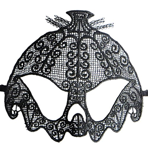Hollow Out Lace Pumpkin Shape Halloween Evening Party Prom Masquerade Mask