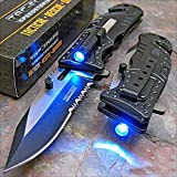 Tac-force Black Sheriff LED Tactical Rescue Pocket Knife