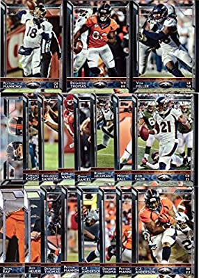 2015 Topps NFL Denver Broncos Football Card Team Set - 19 Card Set - Includes Peyton Manning, Demaryius Thomas, C.J. Anderson, Emmanuel Sanders, Von Miller, and more!