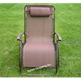Extra Wide Oversize Brown Zero Gravity Chair ~ Styled Shopping