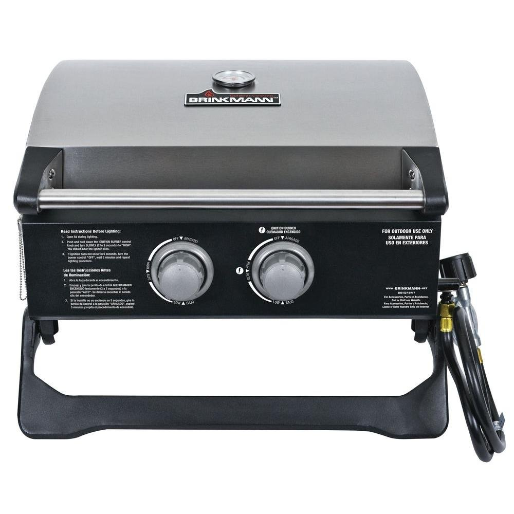 2-Burner Tabletop Propane Gas Grill