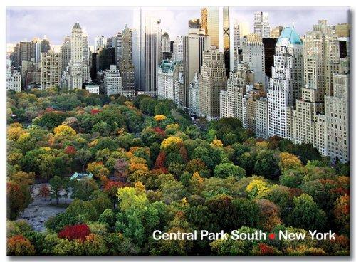 Central Park South Panorama - New York City Photo Souvenir Refrigerator Magnet front-614917