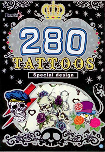 280 Temporary Tattoos - Skulls - Style 32 - 1