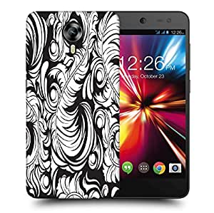 Snoogg White Big Leaves Printed Protective Phone Back Case Cover For Micromax Canvas Nitro 4G