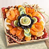 Tropical Flora Dried Fruit Tray Gift with Nuts