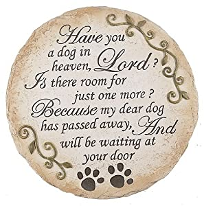 Ganz Pet Memorial Stepping Stone, Have You a Dog in Heaven
