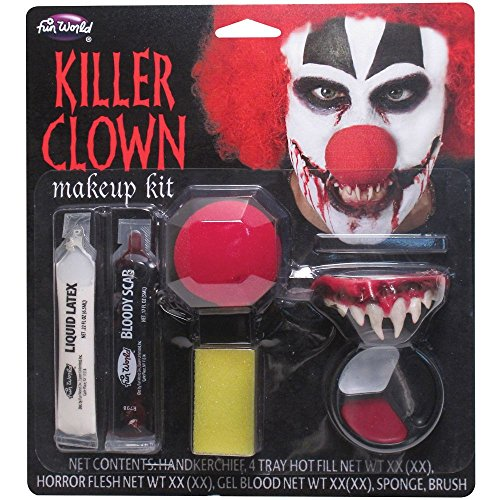 killer-clown-halloween-make-up-kit-with-teeth-nose-latex-bloody-scab-paint