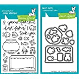 Lawn Fawn Fintastic Friends Clear Stamp and Die Set - Includes One Each of LF891 (Stamp) & LF892 (Die) - Bundle Of 2