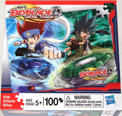 BeyBlade 100 Piece Puzzle - 2 Characters - Blue & Green Blades - 1