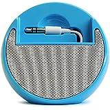 iPodnano(ナノ) ウォークマン スピーカー ナノスピーカー ブルー イヤホン接続タイプのミニスピーカー