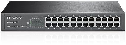 TP-LINK TL-SF1024D Switch 24 Ports 10/100Mbps (Bureau/Rackable, Boîtier Métal)