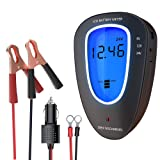 LST 6V/12V/24V Battery Tester Automotive Battery Meter Car Battery Voltage Tester Digital Analyzer (Color: LCD Battery Meter)
