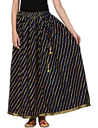 Saadgi Rajasthani Hand Block Printed Handcrafted Ethnic Lehnga Skirt For Women/Girls - B06XGGWLCF