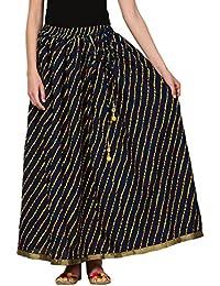 Saadgi Rajasthani Hand Block Printed Handcrafted Ethnic Lehnga Skirt For Women/Girls - B06XGK85V7