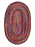 nuLOOM 200MGNM04A-606R Casual Handmade Braided Cotton Multi Rug (6-Feet X 6-Feet Round)