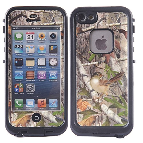 Wisdompro Colorful Decorative Vinyl Decal Skin Stickers for Lifeproof iPhone 5 5s Fre Case Tree Camo