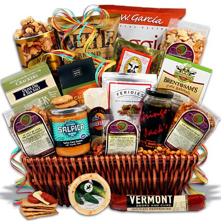 Super Bowl Tailgate Party Gift Basket Picture