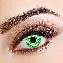 5548022668af7 Lentes de contacto coloreadas Green Glitterde Aricona - que cubren las lentes  años para los ojos