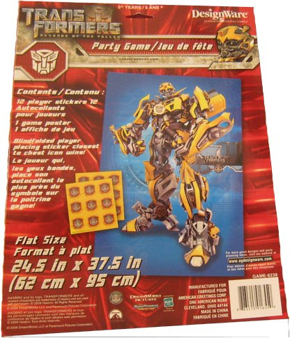 Transformers Revenge of the Fallen Party Game