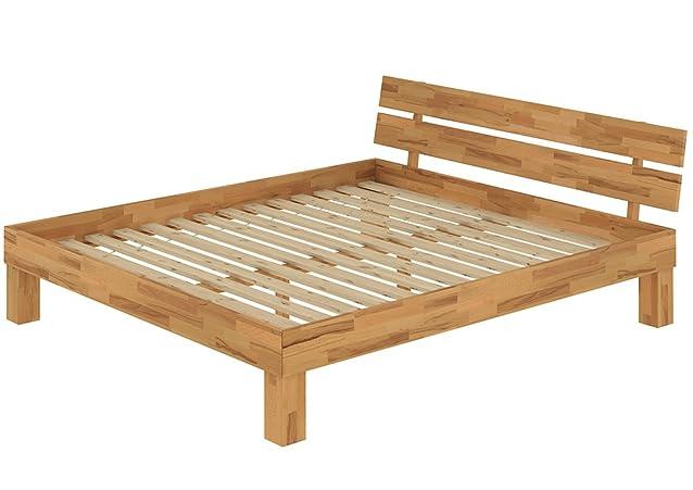 Solido extra grande letto/futon 180x220 in faggio Eco laccato con assi di legno 60.86-18-220