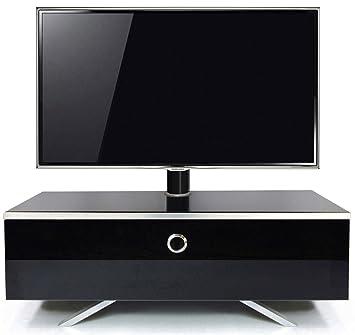 MDA Designs Cubic Hybrid - Mobiletto con supporto TV a staffa, per schermi LED/ LCD/ OLED, nuova versione 2015, colore nero lucido