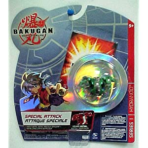 Hydranoid Heavy Metal Special Attack Green Bakugan Battle Brawlers Figure with Metal Card