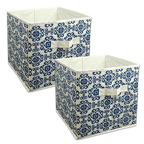 DII Foldable Fabric Storage Containers for Nurseries, Offices, Closets, Home Décor, Cube Organizers & Everyday Storage Needs, (Large - 11 x 11 x 11