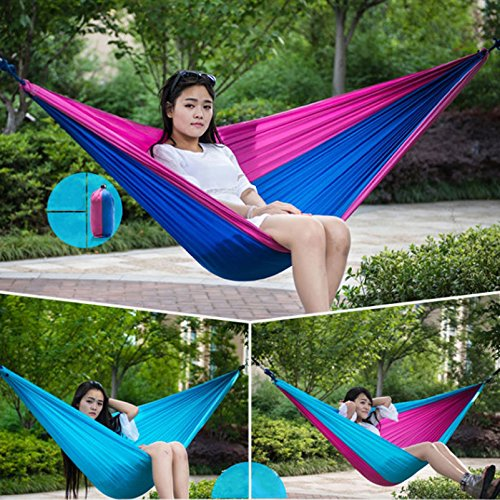 Travel Camping Nylon Fabric Hammock Parachute Bed for Double Two Person