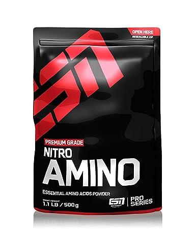 ESN Nitro Amino, Pro Series, Blackberry, Beutel mit Dosierlöffel, 1er Pack (1 x 500g)
