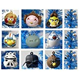 Angry Birds Star Wars 9 Piece Holiday Christmas Ornament Set Featuring Luke Chewbacca Stormtrooper C3PO Darth...