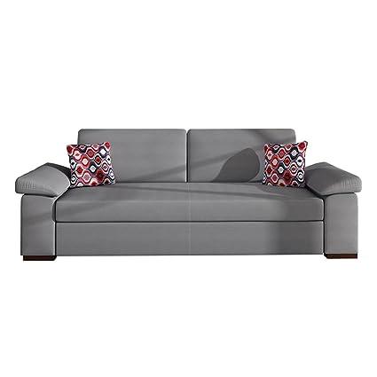 Schlafsofa Dora Grand, Sofa mit Bettkasten und Schlaffunktion, Bettsofa, Schlafcouch, Couch vom Hersteller, Couchgarnitur (Granada 2725 + Amber 70)