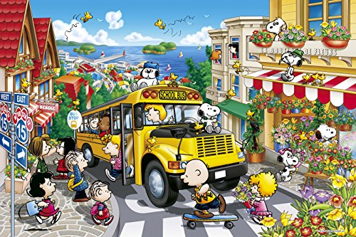 1000 piece jigsaw puzzle PEANUTS happy school bus (50x75cm)