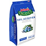Jobe's Organics Soil Acidifier for Hollies, Blueberries and Other Acid Loving Plants, Turns Hydrangeas Blue, 6 pound bag (Color: Soil Acidifier, Tamaño: 6 lb)