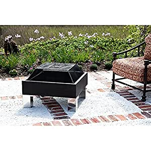 Outdoor square attractive fire pit vinyl cover for Amazon prime fire pit