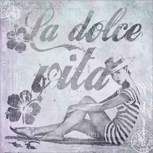 Forex-Platte 30 x 30 cm: La dolce Vita von Andrea Haase