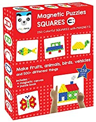 Magnetic Puzzles : Squares (250 colorful magnets) (ages 5 - 99 years)
