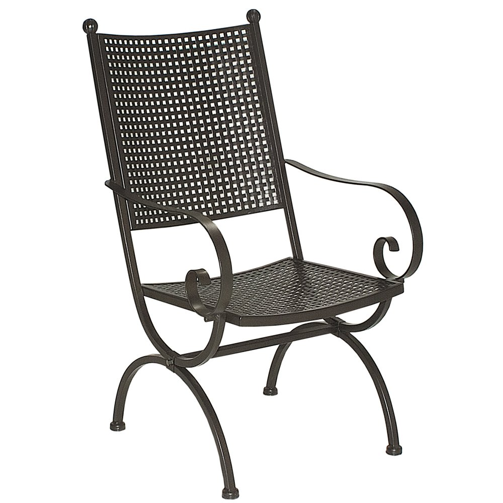 MBM 156123 Sessel Romeo Elegance hoch, 58 x 68 x 101 cm, Eisengestell marone, Flächenfarbe marone antik jetzt kaufen
