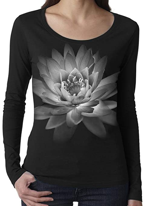 Yoga Clothing For You Ladies Lotus Flower Long-Sleeve Lightweight Tee Shirt