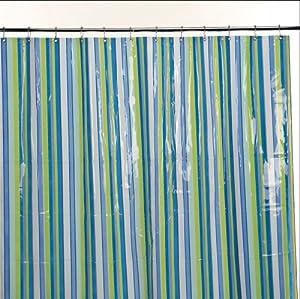 Shower Curtain Nautical Blue Stripe Nautical Blue Stripe