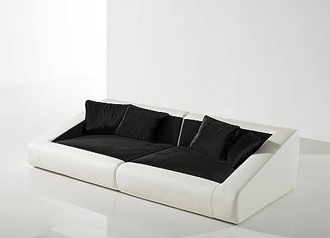 SAM® Schlafsofa Siena schwarz weiß Sofa 260 cm inklusive Kissen