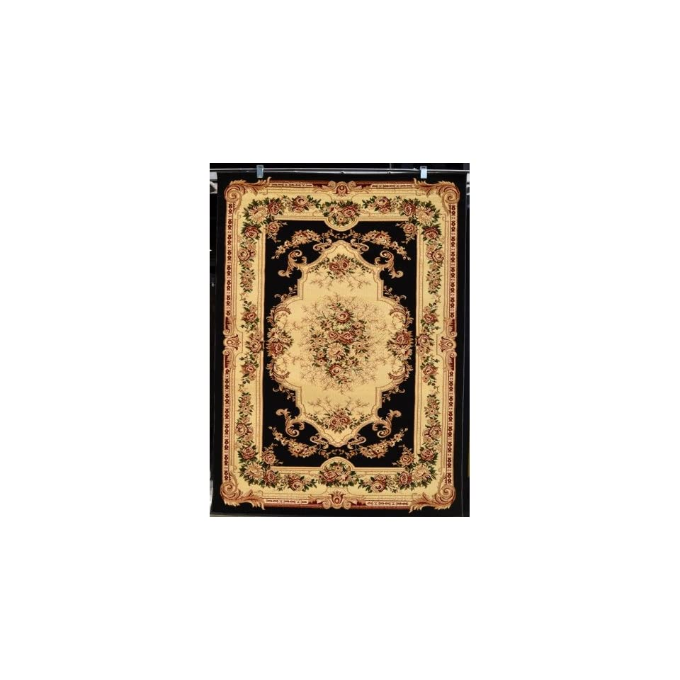 Black Ivory Burgundy Green Beige 8x10 (710x102) Black Isfahan Area Rug Oriental Carpet Large New 662
